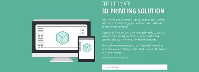 Printr, nouveau venu dans l'impression 3D